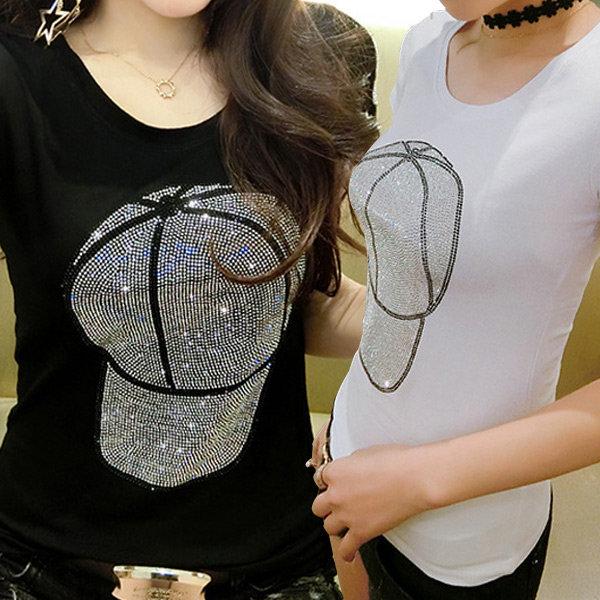 대박난박양 슬림핏 반팔 티셔츠(캡)/여름옷