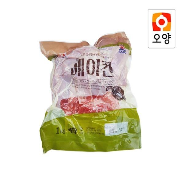 사조오양 베이컨 파지 1kg/베이콘/돼지고기/삼겹살