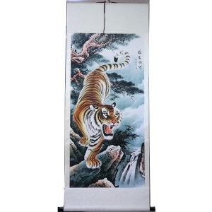 풍수에좋은 호랑이 그림 족자 풍수지리 인테리어 소품