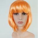 오렌지색 단발머리가발 행사 파티 연극 컬러 가발