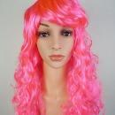 핑크색 파마가발 행사 연극 코스프레 긴머리가발