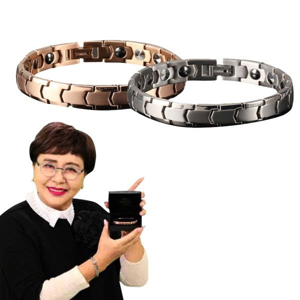 웰스톤 게르마늄 팔찌 2개 홈쇼핑 커플 건강팔찌 선물