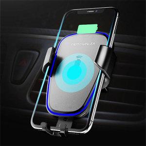 차량용 무선충전기 거치대 LED