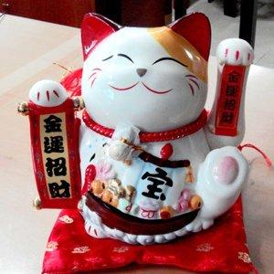 손흔드는 마네키네코 일본 복 고양이 인형 개업선물