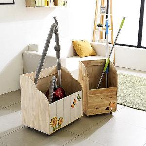 청소도구함 다용도정리함 청소용품보관함 원목보관함
