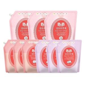 비앤비 유아 섬유세제 유연제3~6팩 / 아기 세탁