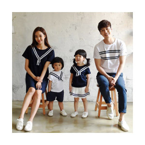 (몽피마피) 패밀리 투웨이 반팔 WH NA/16B24FM/가족티 패밀리룩 가족사진의상