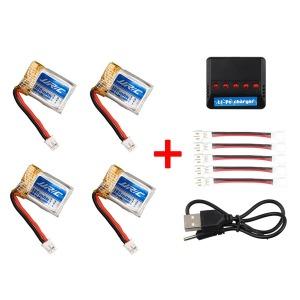 미니드론용 배터리4개+멀티충전기 편리한 충전