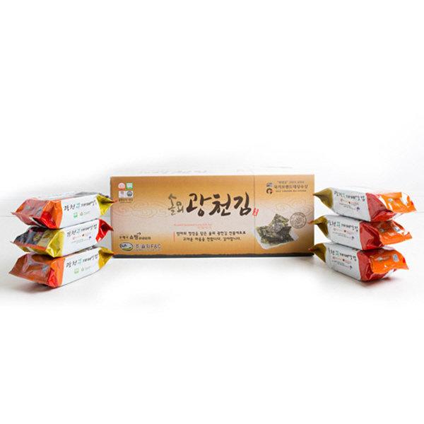 광천김  광천 웰빙 재래맛김 식탁김 27매(15g)x30봉