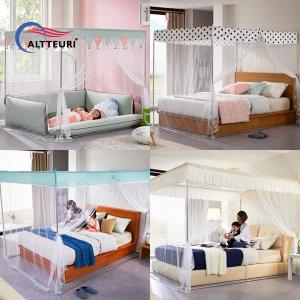 알뜨리 지퍼식 사각모기장/캐노피모기장/침대모기장