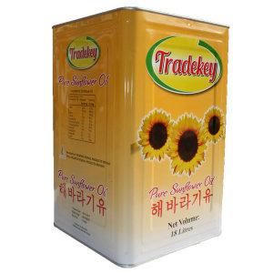 트레드키 해바라기유 18L 업소용 식용유 CAN