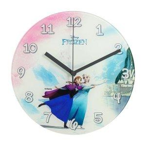 (제조사판매/당일무료발송/AS확실) 디즈니 D847F 무소음 겨울왕국 글라스 벽시계