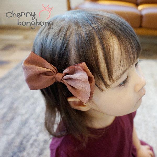 (채니봉봉(chennybb)) 뉴칼라 레인보우집게핀 유아리본핀