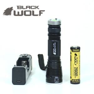 블랙울프 손전등 후레쉬 LC-858 T6 할인세트 맥라이트