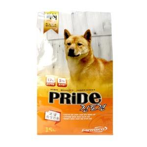 팜스코 프라이드 진도견 15kg 강아지사료 개사료