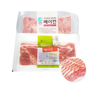 코리원/CJ 베이컨 1kg/돼지고기/삼겹살/베이컨말이