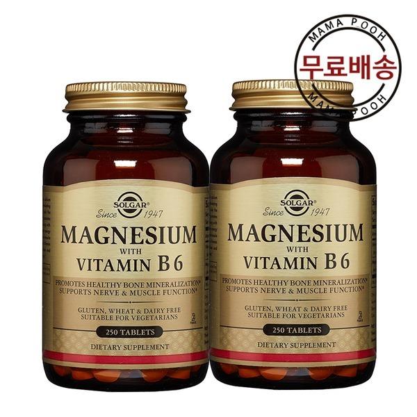 1+1 솔가 마그네슘 비타민B6 250정
