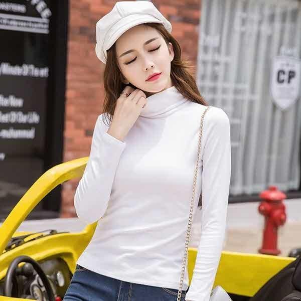 iny 여성 목폴라 티셔츠