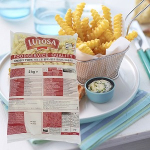 감자튀김 2kg 루토사 크리스피줄무늬감자 클링클컷