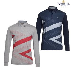 남성 폴리스판 패턴 티셔츠(I0Y1105)