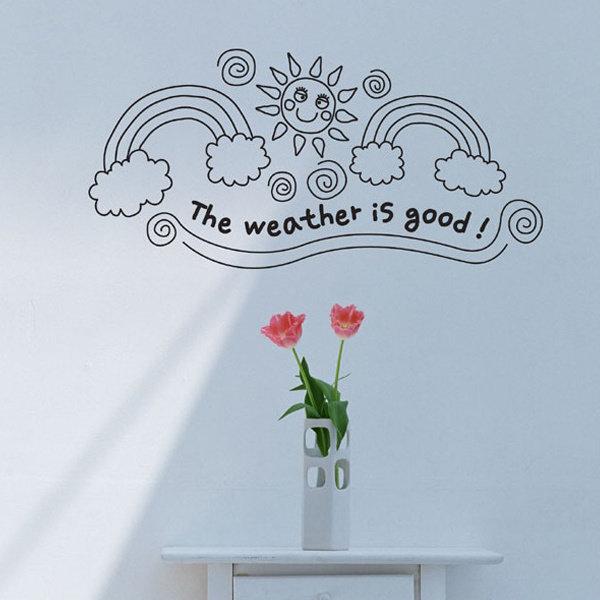 그래픽스티커_The weather is good
