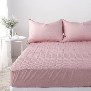국내산 순면 두툼한 누빔 침대매트리스커버/침대커버