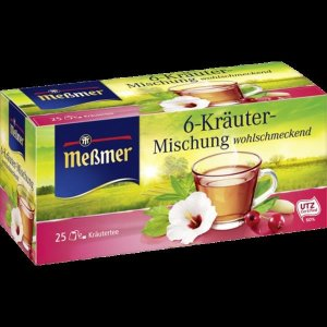 Messmer 6 허브 차  25 x 2 00 g 50 g