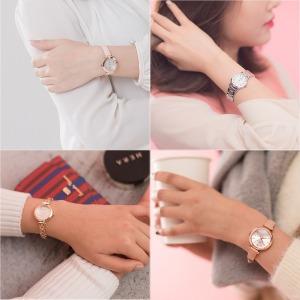 여자 여성 손목 시계 메탈 추천 가죽 패션 학생 선물