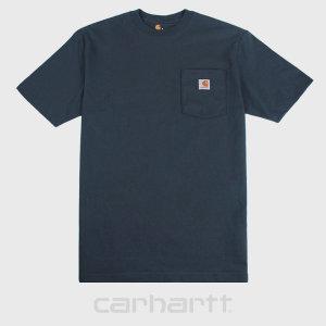 칼하트 K87 네이비 포켓 티셔츠