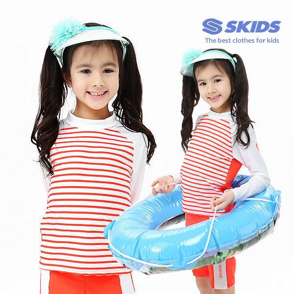 스키즈 아동 래쉬가드세트 SKG-B481(2PCS)/7~15세/실내수영복/워터파크용