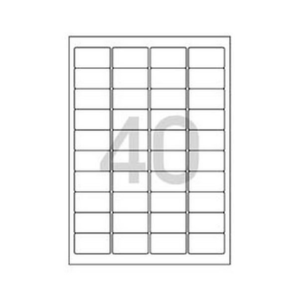 101687 바코드용 라벨(LQ-3102/20매/40칸/폼텍)
