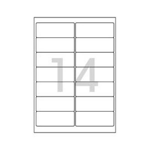 102244 레이져 반투명라벨(LC-3108/10매/14칸/폼텍)