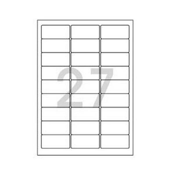 102778 바코드용 라벨(LS-3104/100매/27칸/폼텍)