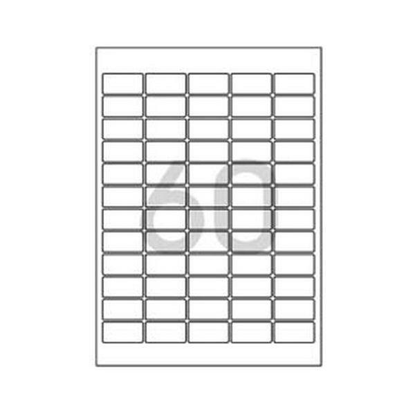 102776 바코드용 라벨(LS-3101/100매/60칸/폼텍)