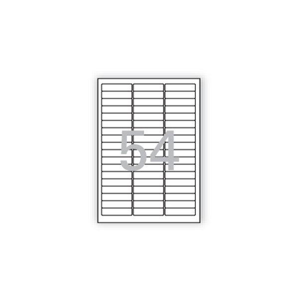 108101 분류표기용 라벨(LS-3154/100매/54칸/폼텍)