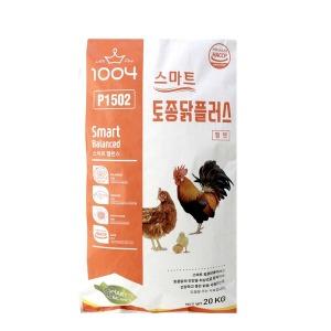 스마트 토종닭 플러스 펠렛 20kg 큰 닭사료