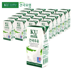 건국 멸균 우유 200ml 48팩 매일 상하목장 서울 두유