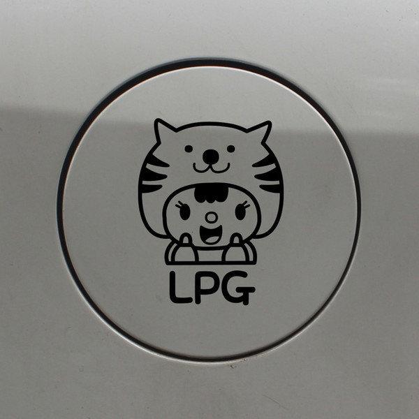 주유구스티커_고양이인형 LPG