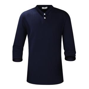 R2헨리넥 골지스판 7부티셔츠 남자반팔티 여름쿨티