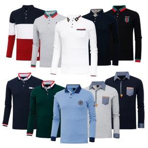 봄 가을 긴팔 티셔츠 골프웨어 남자 차이나 카라 HTLT