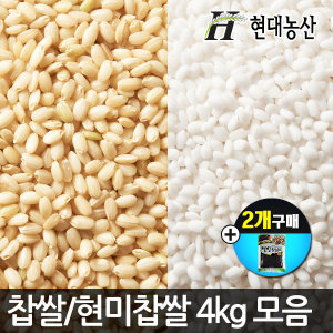 국산 찹쌀4kg/현미찹쌀/현미/찰현미/사은품