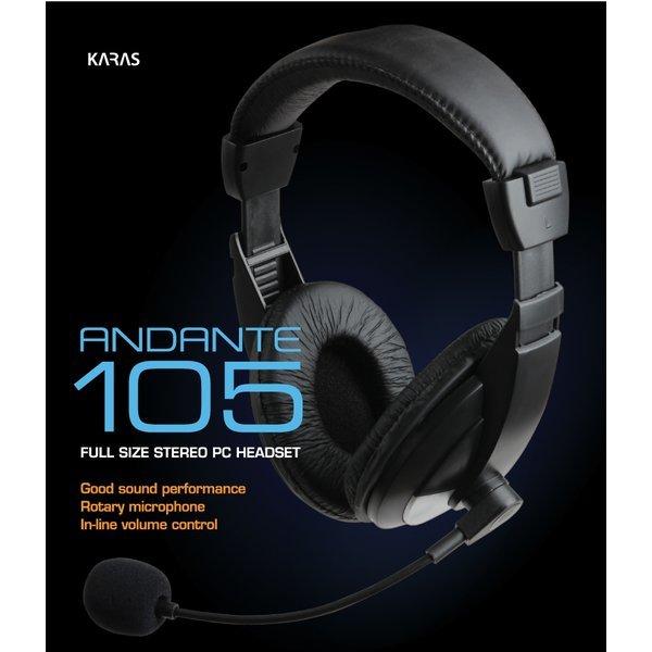 카라스 ANDANTE105 (ANDANTE 105) 스테레오 헤드셋