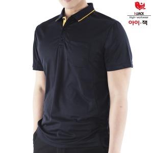 근무복 단체복 남성 카라티 티셔츠 IS-04 자수 문의