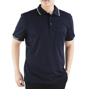 근무복 단체복 남성 카라티 티셔츠 IS-02 자수 문의