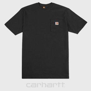 칼하트 K87 블랙 포켓 티셔츠