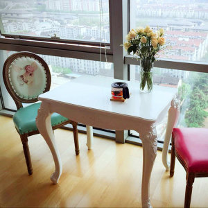 루이송 비앙카 화이트 2인용 4인 식탁 테이블
