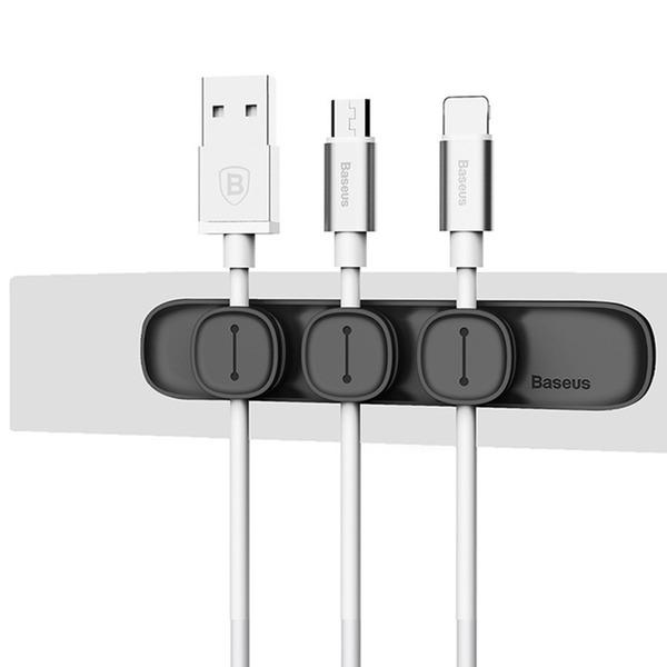 Baseus 내구성 케이블 클립 USB 케이블 정리 클램프