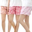 3부 엠보 파자마 시원한 여성잠옷바지 핑크10종 국내산