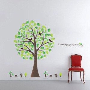 인테리어 포인트스티커 벽지 IP210-아낌없이주는나무