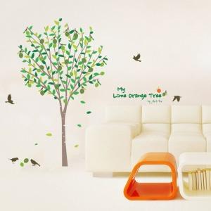 인테리어 포인트스티커 IP222-나의라임오렌지나무